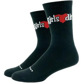 DeFeet Levitator Trail Socken Damen girls love dirt (schwarz)